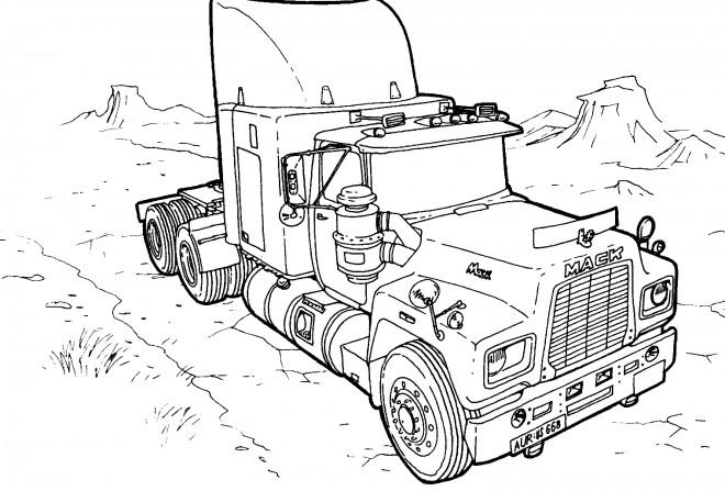 Coloriage et dessins gratuits Camion américain à imprimer