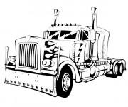 Coloriage et dessins gratuit Camion couleur noir et blanc à imprimer