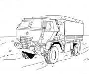 Coloriage et dessins gratuit Camion de Police à imprimer