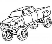 Coloriage et dessins gratuit Camionnette facile à imprimer