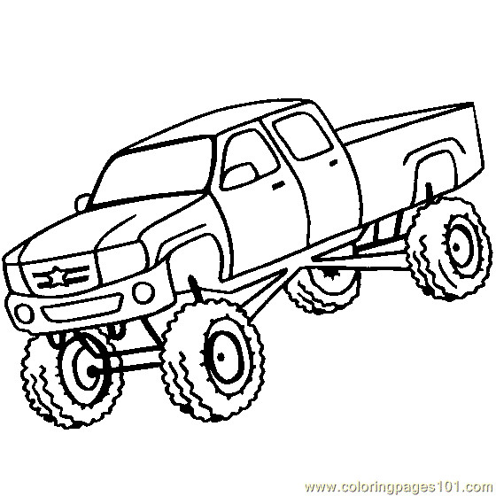 Coloriage et dessins gratuits Camionnette facile à imprimer