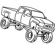 Coloriage Camionnette Monster Truck