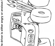 Coloriage conducteur furieux de Monster Truck