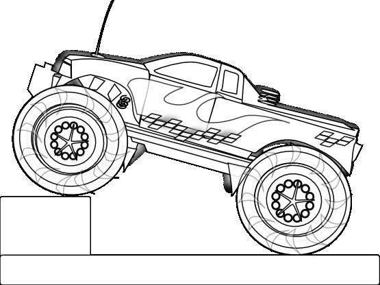 Coloriage et dessins gratuits Jouet Monster Truck à imprimer