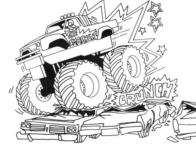 Coloriage et dessins gratuits Le Show de Monster Truck à imprimer