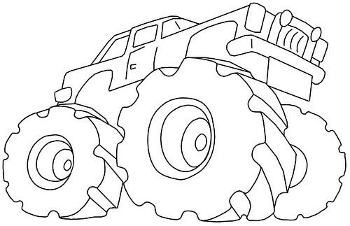 Coloriage et dessins gratuits Monster Camionnette à imprimer