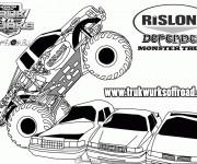 Coloriage et dessins gratuit Monster Truck 11 à imprimer