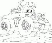 Coloriage et dessins gratuit Monster Truck 16 à imprimer
