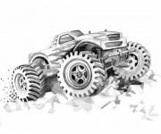 Coloriage et dessins gratuit Monster Truck 17 à imprimer