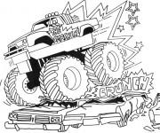Coloriage et dessins gratuit Monster Truck 4 à imprimer