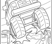 Coloriage Monster Truck à décorer