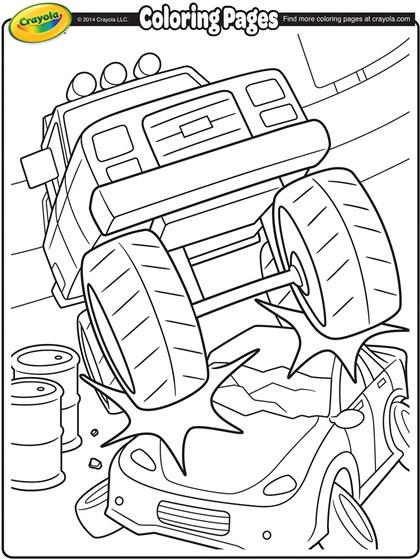Coloriage et dessins gratuits Monster Truck à décorer à imprimer