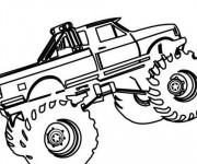 Coloriage et dessins gratuit Monster Truck à découper à imprimer