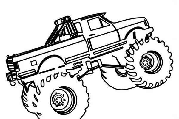 Coloriage et dessins gratuits Monster Truck à découper à imprimer