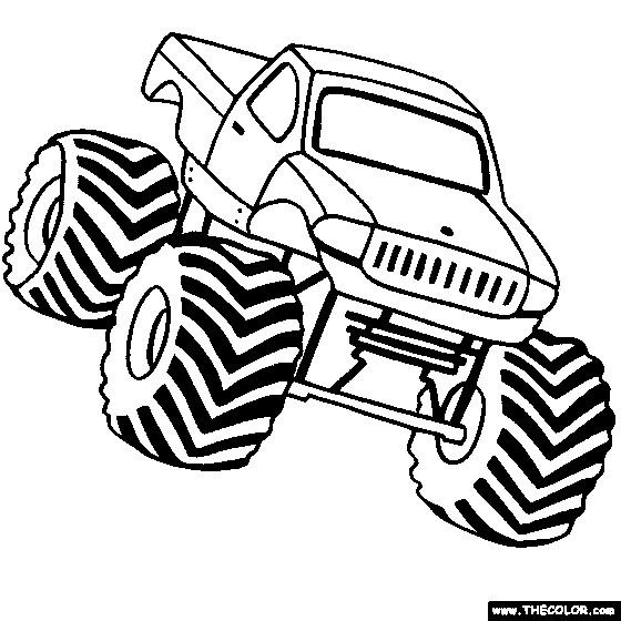 Coloriage et dessins gratuits Monster Truck à télécharger à imprimer