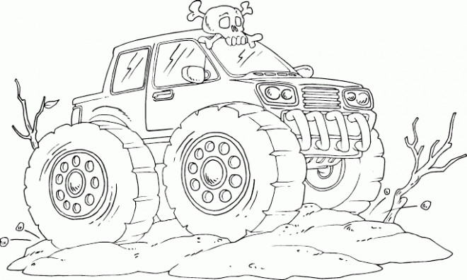 Coloriage Monster Truck au d sert