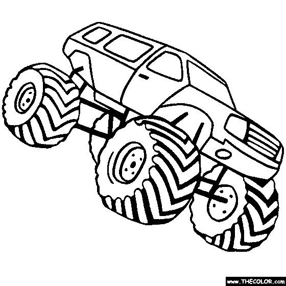 Coloriage et dessins gratuits Monster Truck aux roues surdimensionnées à imprimer