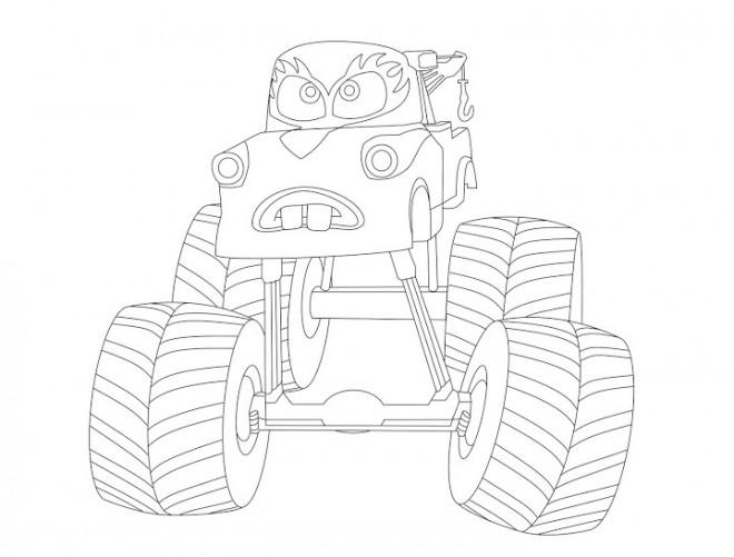 Coloriage et dessins gratuits Monster Truck avec visage à imprimer