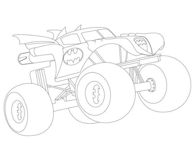 Coloriage et dessins gratuits Monster Truck Batman à imprimer