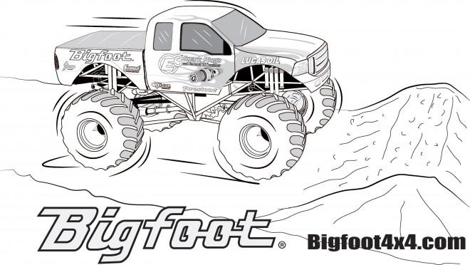 Coloriage Monster Truck Bigfoot Stylis 233 Dessin Gratuit 224