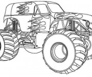 Coloriage Monster Truck Bounty hunter