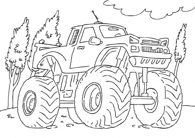 Coloriage et dessins gratuits Monster Truck de course à imprimer