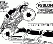 Coloriage Monster Truck Defender