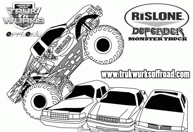 Coloriage et dessins gratuits Monster Truck Defender à imprimer