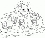 Coloriage Monster Truck dessin animé