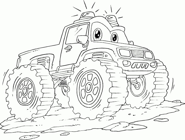 Coloriage Monster Truck dessin