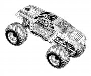 Coloriage Monster Truck destructeur
