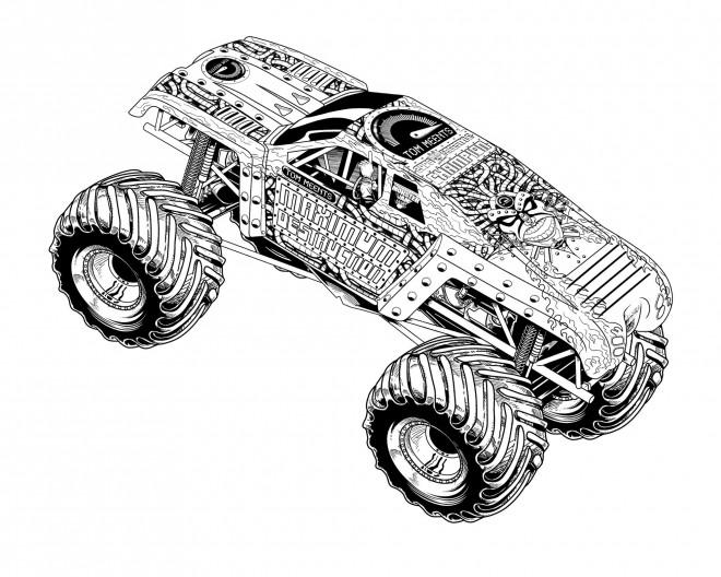 Coloriage et dessins gratuits Monster Truck destructeur à imprimer