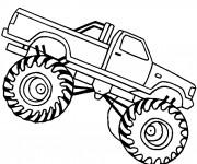 Coloriage et dessins gratuit Monster Truck facile à imprimer