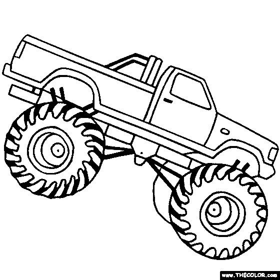 Coloriage et dessins gratuits Monster Truck facile à imprimer