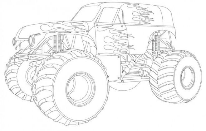 Coloriage et dessins gratuits Monster Truck fantastique à imprimer