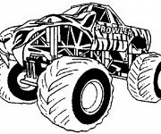 Coloriage Monster Truck Géante