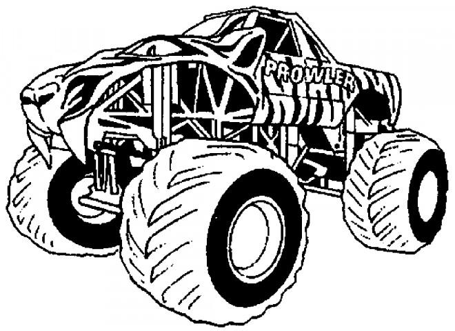 Coloriage et dessins gratuits Monster Truck Géante à imprimer