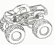 Coloriage et dessins gratuit Monster Truck Grave Digger à imprimer