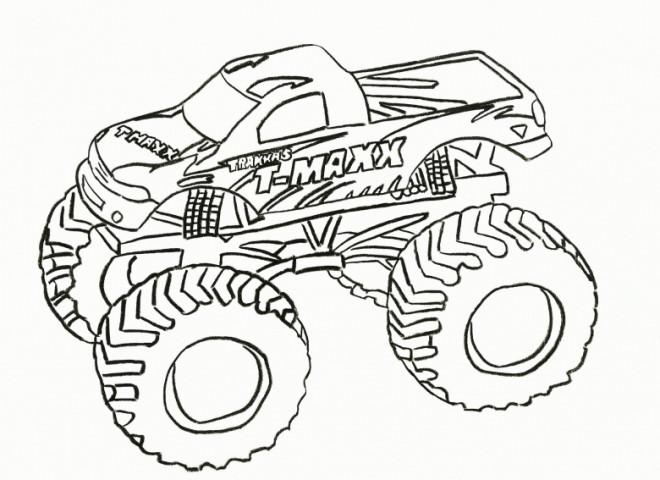 Coloriage et dessins gratuits Monster Truck Grave Digger à imprimer