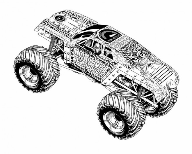 Coloriage et dessins gratuits Monster Truck Maximum Destruction à imprimer
