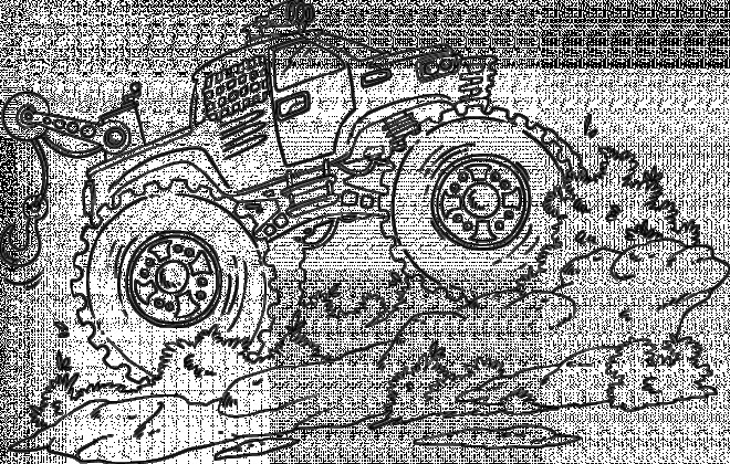 Coloriage et dessins gratuits Monster Truck monte la montagne à imprimer