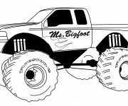 Coloriage et dessins gratuit Monster Truck Ms.Bigfoot à imprimer