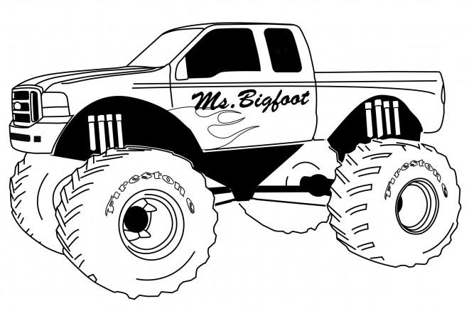 Coloriage et dessins gratuits Monster Truck Ms.Bigfoot à imprimer