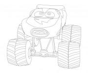 Coloriage et dessins gratuit Monster Truck pour enfant à imprimer