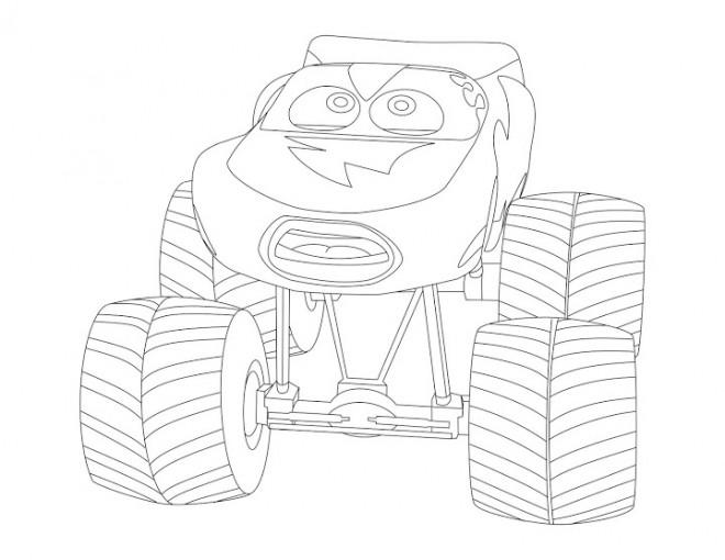 Coloriage et dessins gratuits Monster Truck pour enfant à imprimer