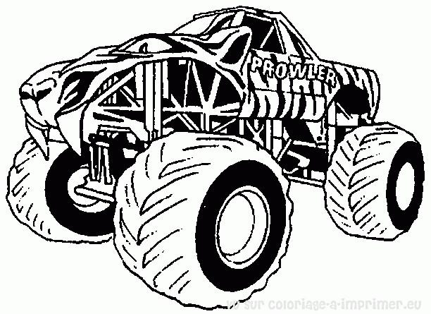 Coloriage et dessins gratuits Monster Truck Prowler à imprimer