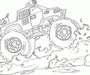 Coloriage Monster Truck puissante