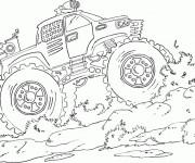 Coloriage et dessins gratuit Monster Truck puissante à imprimer
