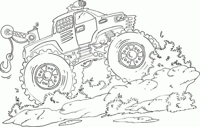 Coloriage et dessins gratuits Monster Truck puissante à imprimer