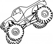 Coloriage Monster Truck qui cabre